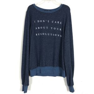 WILDFOX Jumper I Don't Care About Your Resolutions